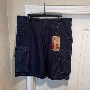 Plugg Navy Blue Microfiber Shorts